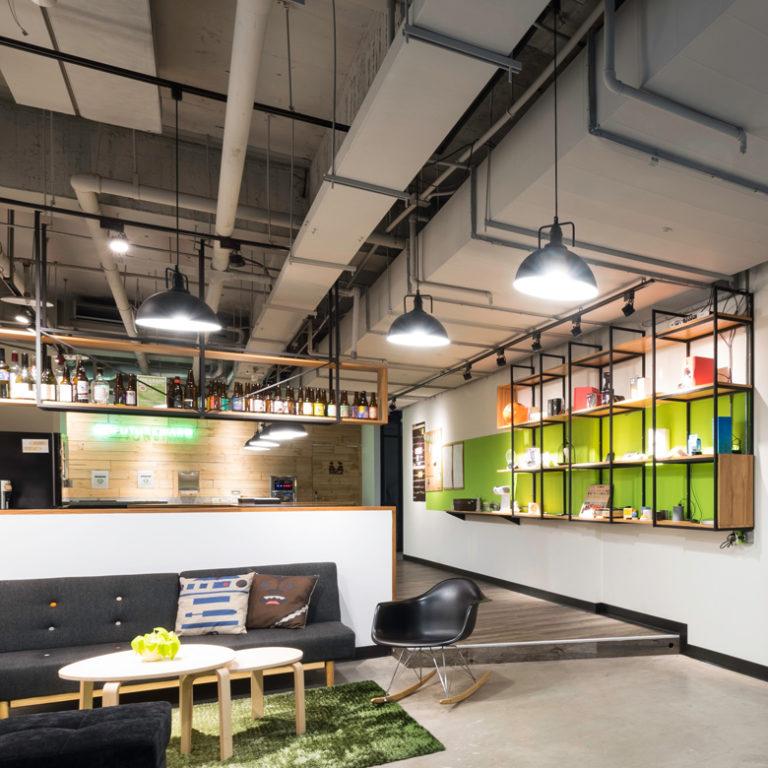 Open floor coworking space in Taipei, Taiwan