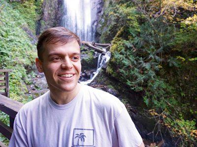 Hacker Paradise founder hiking waterfalls in Costa Rica