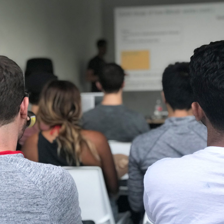 Digital nomads learn about cryptocurrency and bitcoin at workshop in Medellin, Colombia