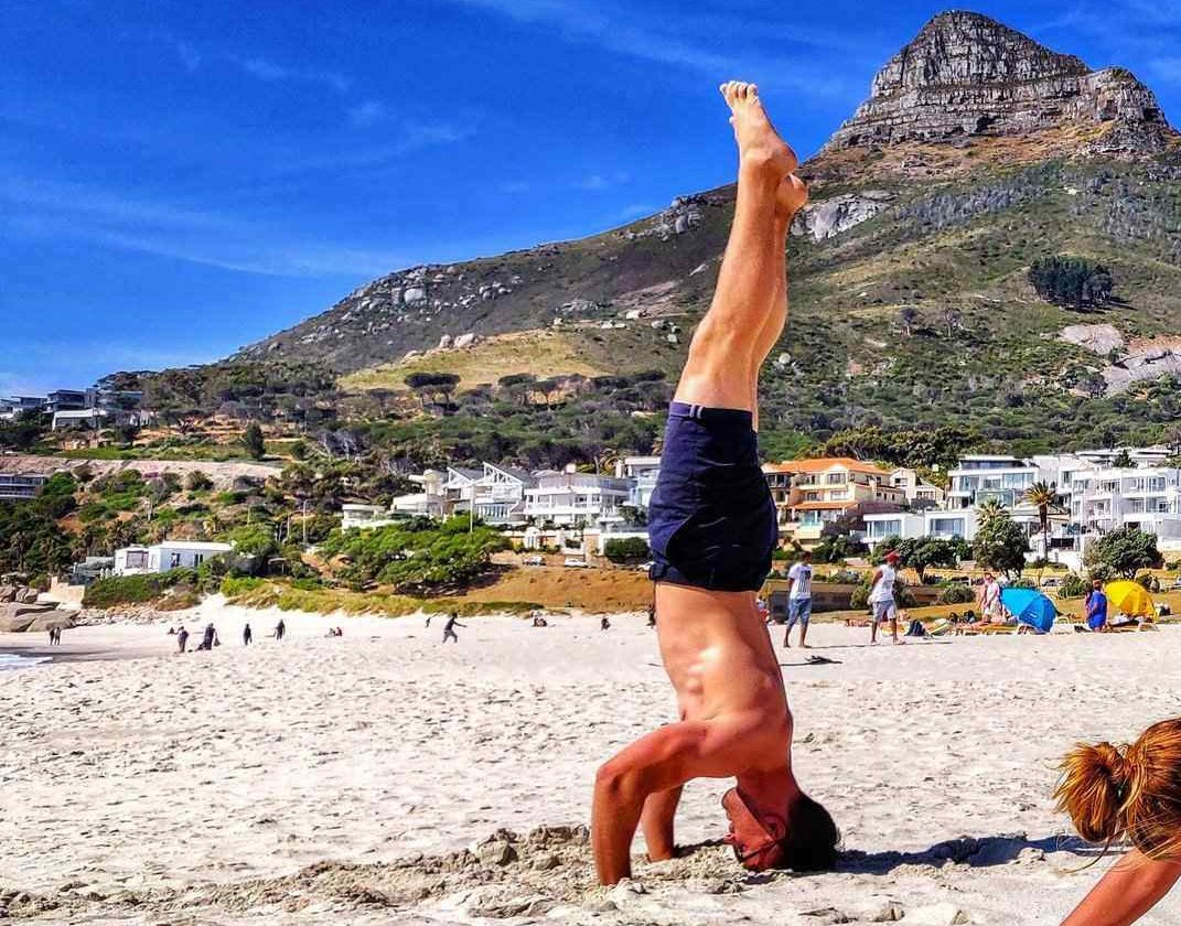 remote workers exercising in Cape Town