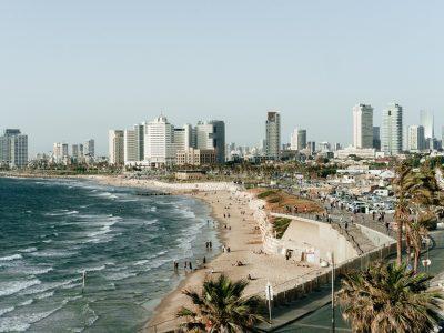 View of beaches in Tel Aviv, Israel