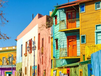 Remote workers go on art tour of La Boca neighborhood in Buenos Aires, Argentina