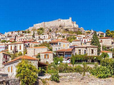 Mithymna Town in Lesvos Island